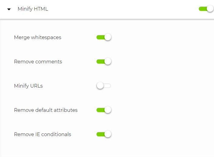 Minify HTML