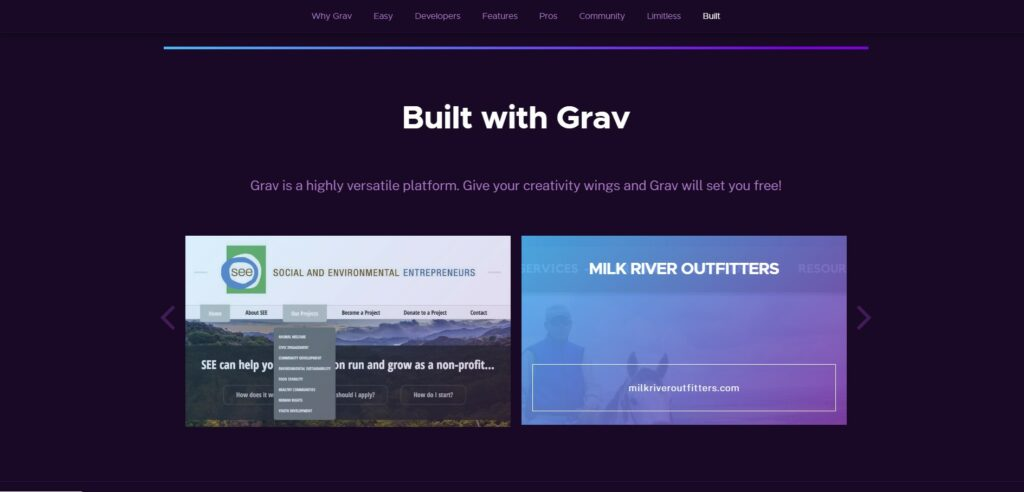 Официальный сайт Grav