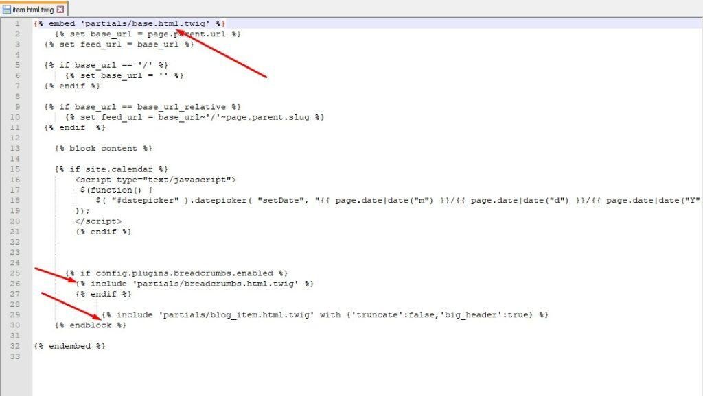 Подключение внешних файлов в CMS Grav