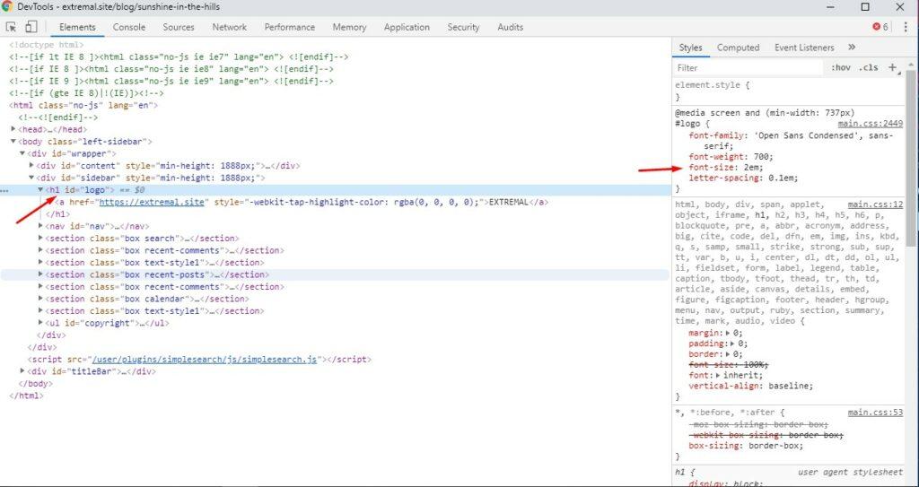 Инструмент разработчика Chrome