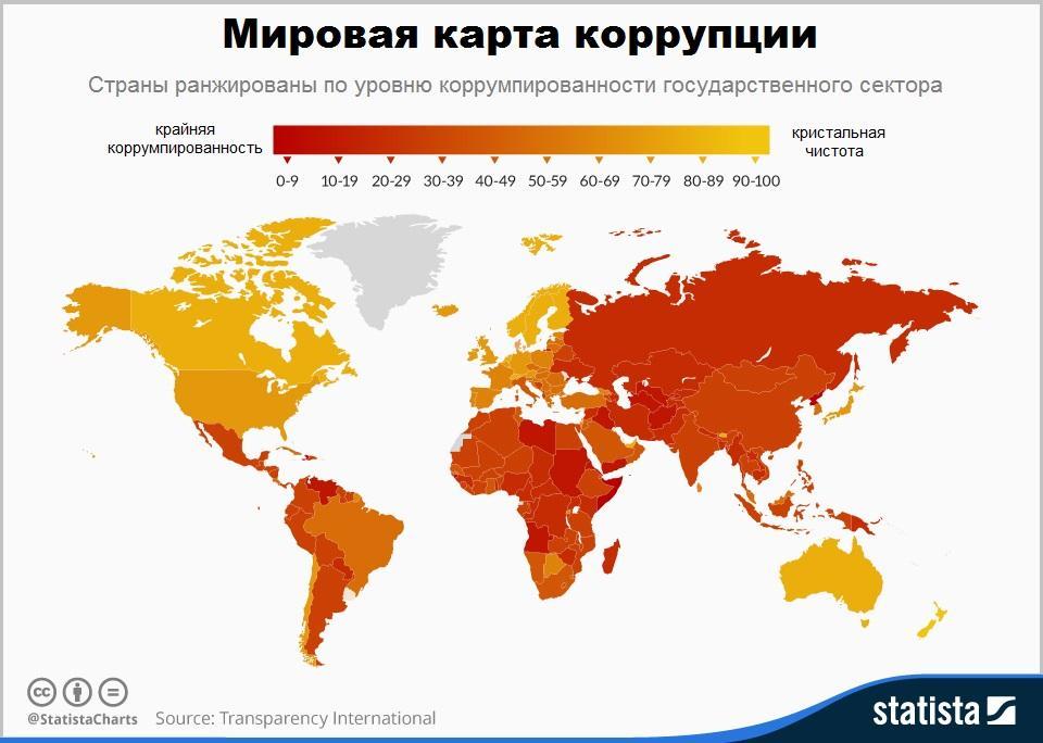 Мировая карта коррупции
