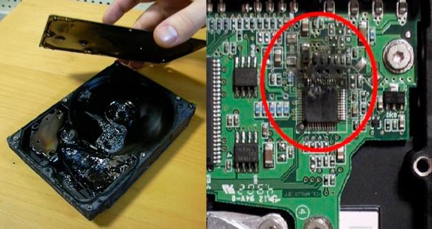 Сгоревший HDD