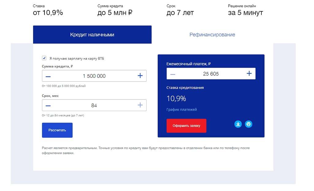 Дизайн посадочной страницы для расчёта кредита