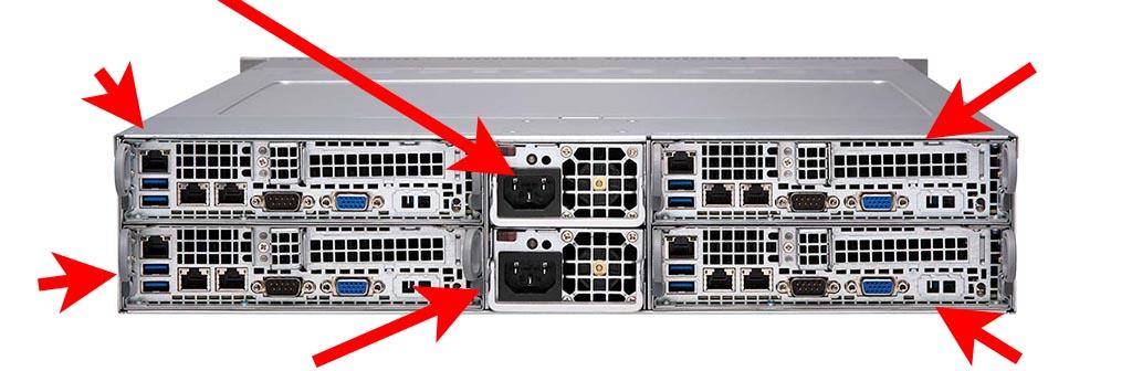 Задняя часть сервера