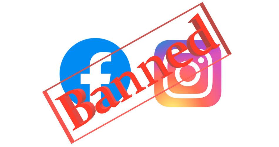 Бан рекламного объявления и аккаунта в Facebook и Instagram