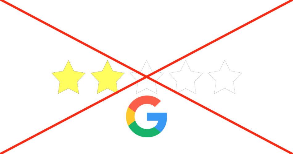 Google убрал рейтинг в виде звёзд у многих сайтов